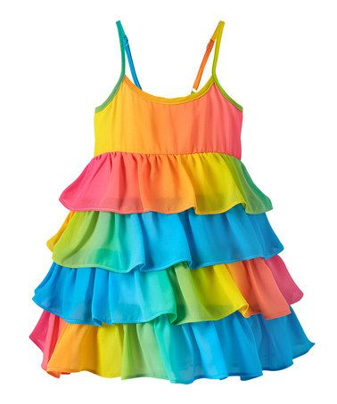Another great find on #zulily! Rainbow Tiered Dress - Infant & Toddler #zulilyfinds   Love this one...with my Angelina's Dark Hair and big brown eyes the colors will look beautiful on her...