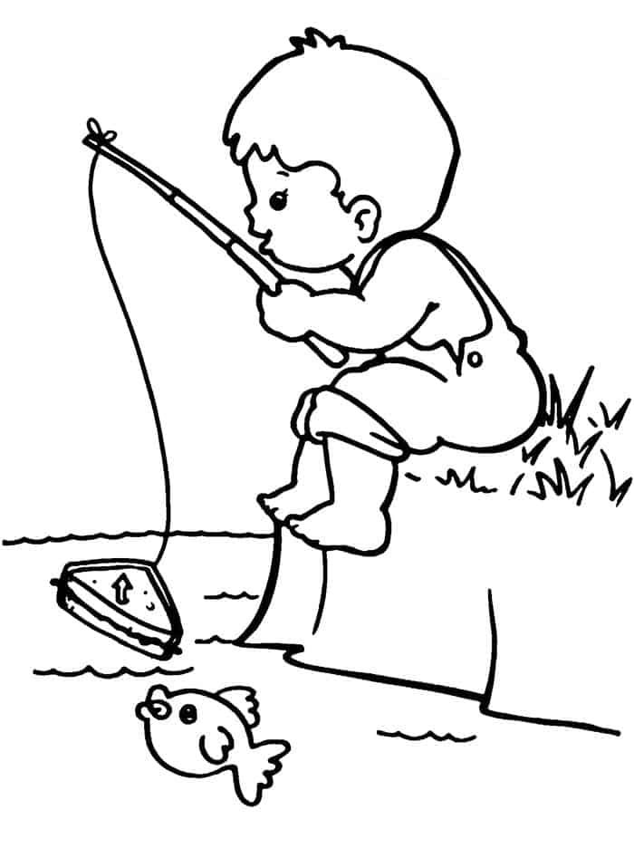 Fishing Coloring Pages Fish Ring In 2020 Fish Coloring Page Coloring Pages Boy Coloring