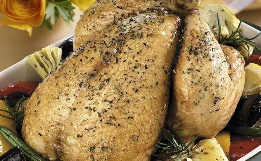 Epicure's Honey Glazed Roast Chicken with Sage Apple Stuffing