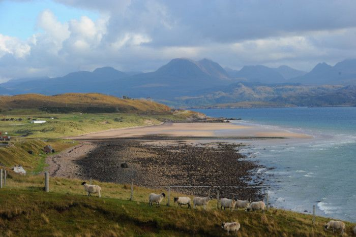 The North Coast 500 route passes Gairloch on a scenic route around the north of Scotland. Picture: Robert Perry/TSPL