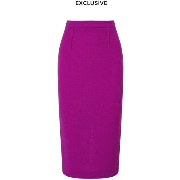 Roland Mouret Arreton Skirt (€750) ❤ liked on Polyvore featuring skirts, brightviolet, midi, below the knee skirts, below the knee pencil skirt, purple midi skirt, below knee length pencil skirts and zipper skirt