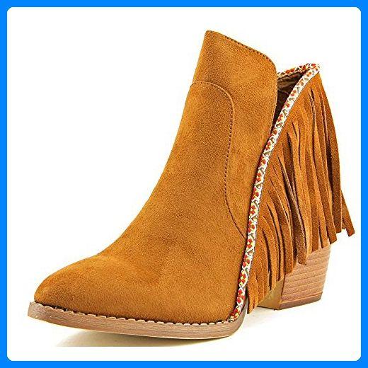 Mia Nita Damen US 7 Beige Mode-Stiefeletten - Stiefel für frauen (*Partner-Link)