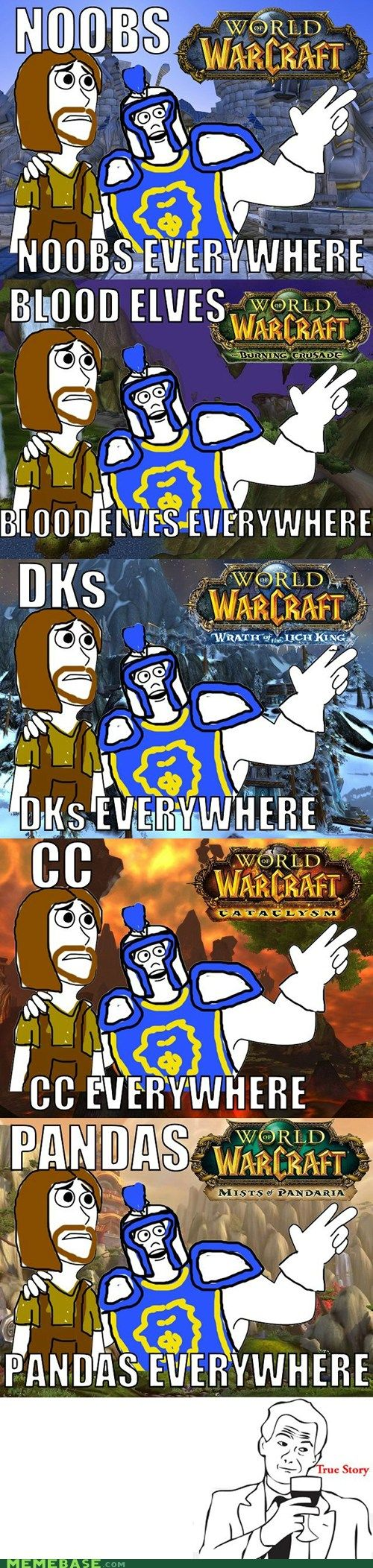 World of Warcraft: Warlords or Dreanor. Paladins. Paladins everywhere. And now World of Warcraft: Legion. Demon Hunters. Demom Hunters everywhere.