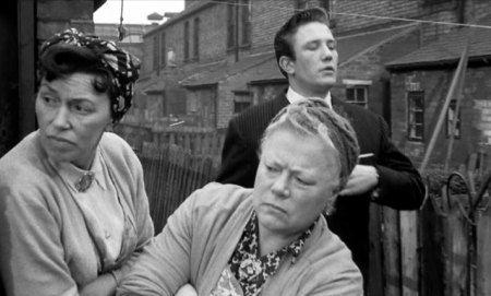 Arthur Seaton in the Radford backyards of 'Saturday Night & Sunday Morning'.