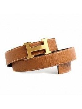 Tan Leather Hermes Belt