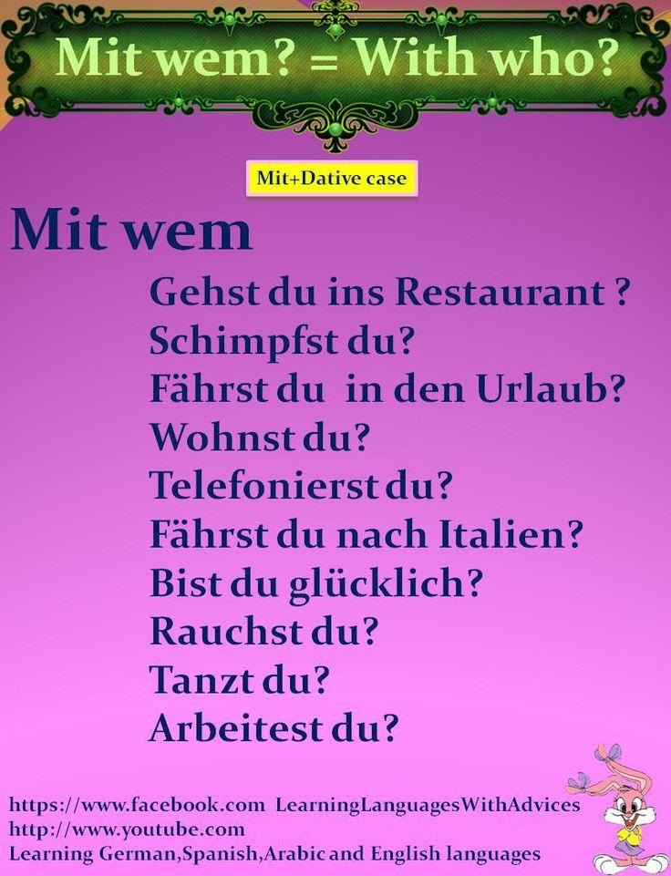 mit wem = with whom?