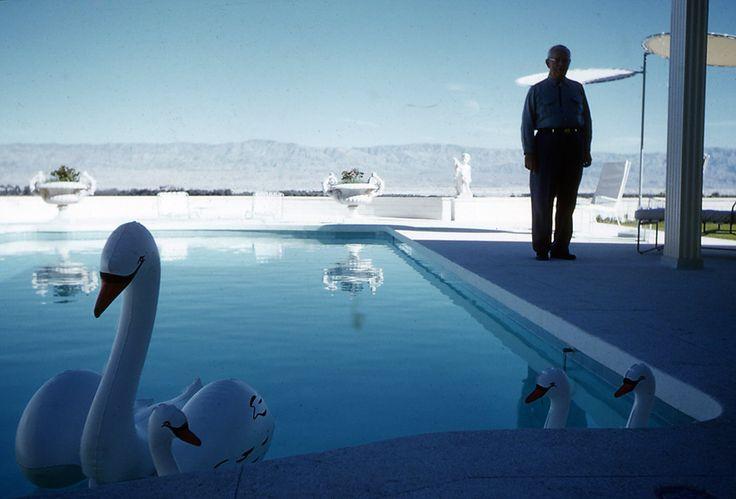 Les cygnes gonflables, Palm Springs 1960 © Robert Doisneau