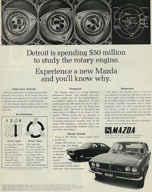 1971 Car Ad, Mazda Rotary Engine   Flickr - Photo Sharing!