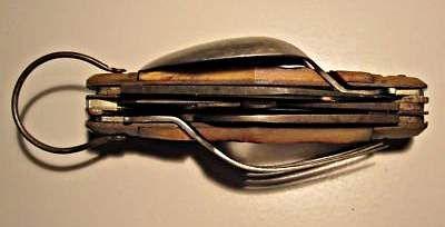 Vintage Camping Pocket Knife Spoon Fork Scissors Japan