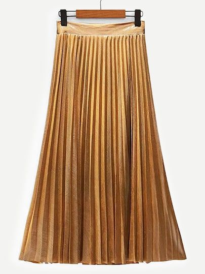 9c2b1029b7 Pleated Velvet Midi Skirt | SHEIN | Fashion in 2019 | Velvet midi ...