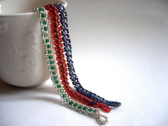 SALE 25 off Hippi Bohemian Beaded Bracelet SET of 3 by bysweetmom, $15.75