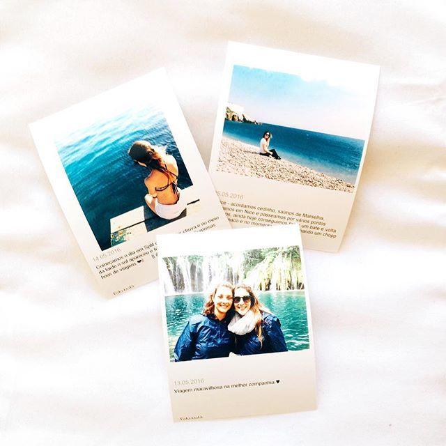 Imprimi no shopping de Tarragona algumas fotos da viagem, tinha uma cabine que imprimia direto do instagram!  || @aricretella || Europa - dica de viagem - Espanha - Spain - Sisters - photo set - Hit the road Girls -