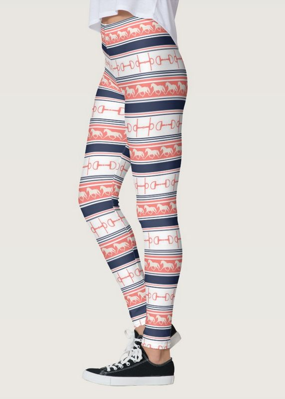 Trotting Ponies and Bits Equestrian Leggings - The Painting Pony - perfect for the horse lover