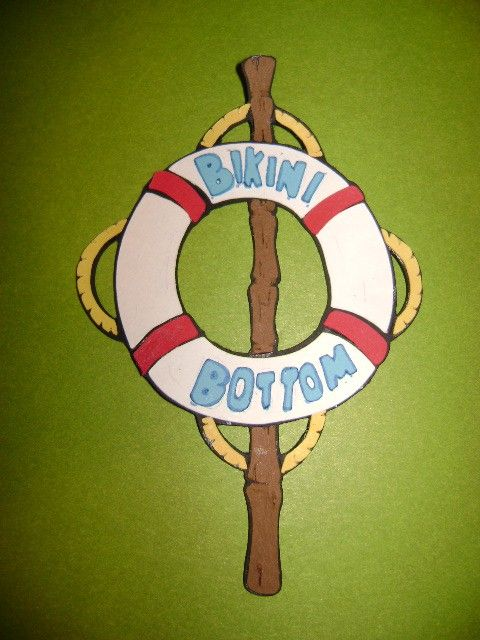 Bikini Bottom Sign Die Cut - Cricut (Spongebob). $1.25, via Etsy.