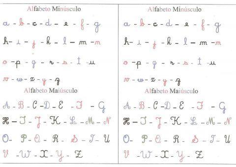 Actividades para aprender o alfabeto manuscrito - Educação Online