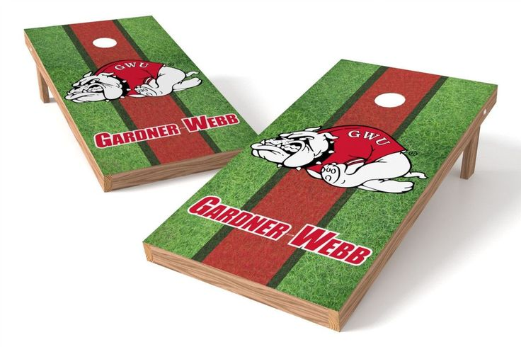 Gardner Webb Running Bulldogs Cornhole Board Set - Field (w/Bluetooth Speakers)