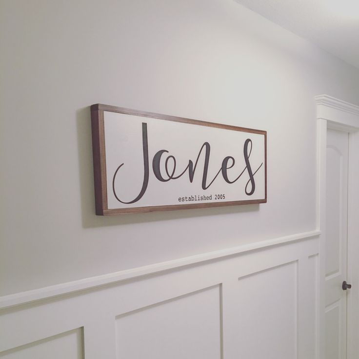 Family Last Name Sign, Wedding Gift, Family Gift, Newlywed Gift, Name Sign, Wooden Sign, Last Name by TuckerUpAndCo on Etsy https://www.etsy.com/listing/484845544/family-last-name-sign-wedding-gift