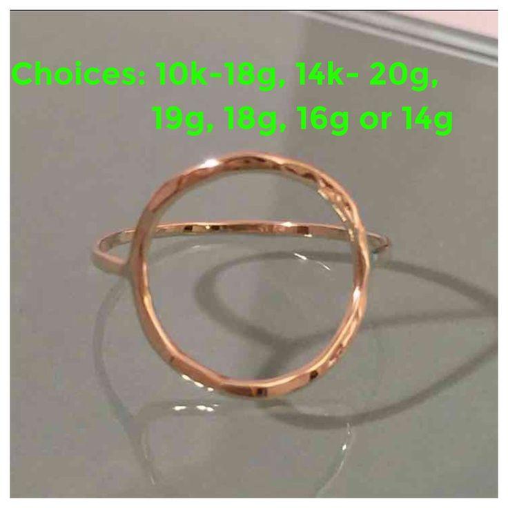 14k/10k Circle Ring, 14K Circle Ring, 14k circle hammered ring, 14k gold circle ring, 14k thumb ring, 14k knuckle ring, 14k eternity ring by EllynBlueJewelry on Etsy https://www.etsy.com/listing/208763139/14k10k-circle-ring-14k-circle-ring-14k