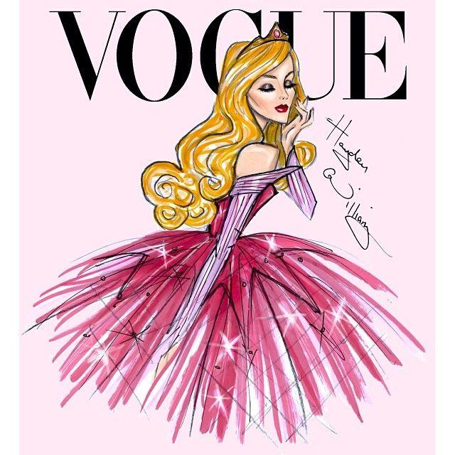 Hayden Williams Disney Divas for Vogue by Hayden Williams: Aurora