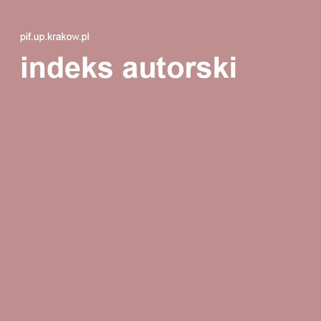 indeks autorski