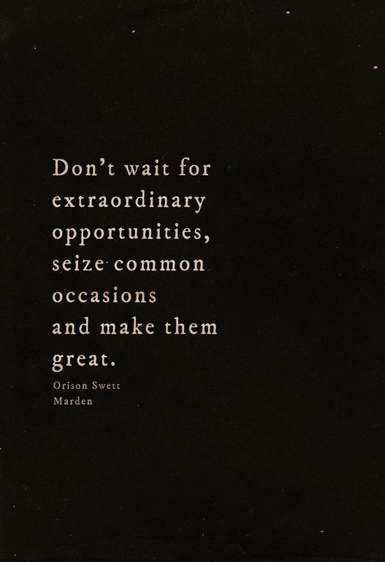 Seize common occasions ~
