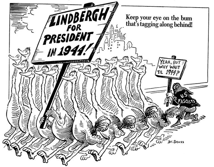 Dr Seuss Political Cartoon Note The Posting Of This