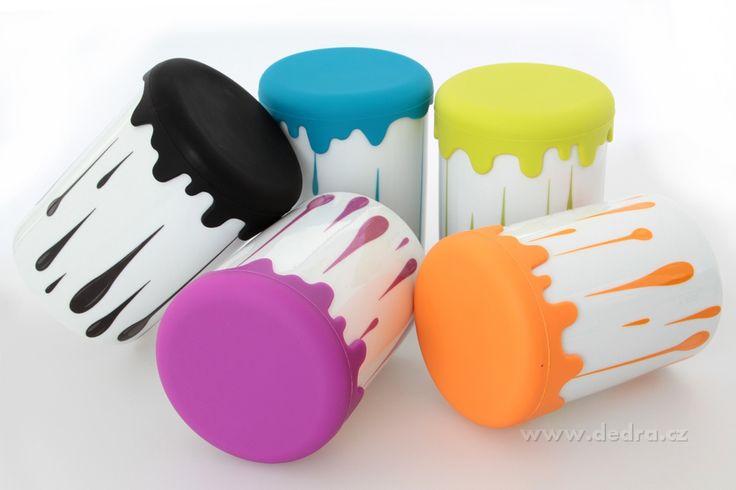DOMÁCNOSŤ | Veľká XXL porcelánová dóza Hrnček var! jasne zelená, výš.15cm, obj.1000 ml porcelán / silikón | DEDRA SLOVAKIA - darčeky do bytu a do domácnosti