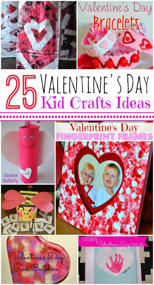25 Valentine's Day crafts to do with the kids!