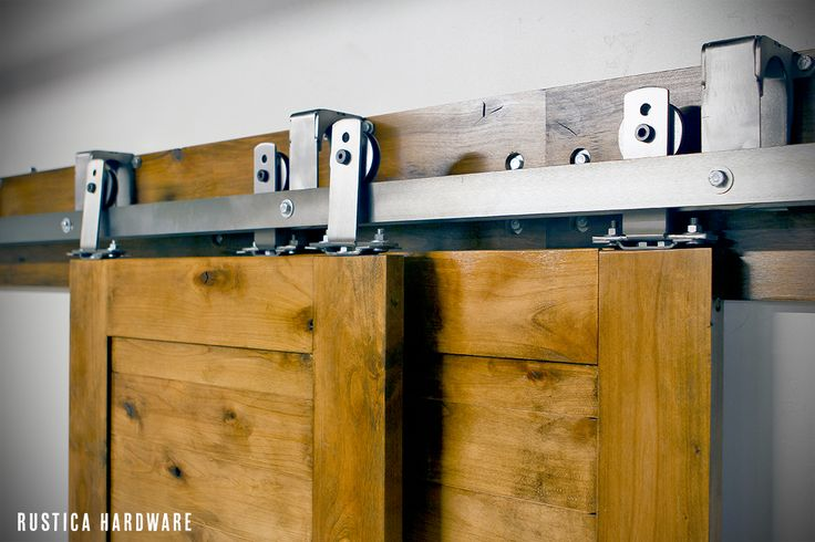 Rustica Hardware Heavy Duty Bypass Barn Door Hardware