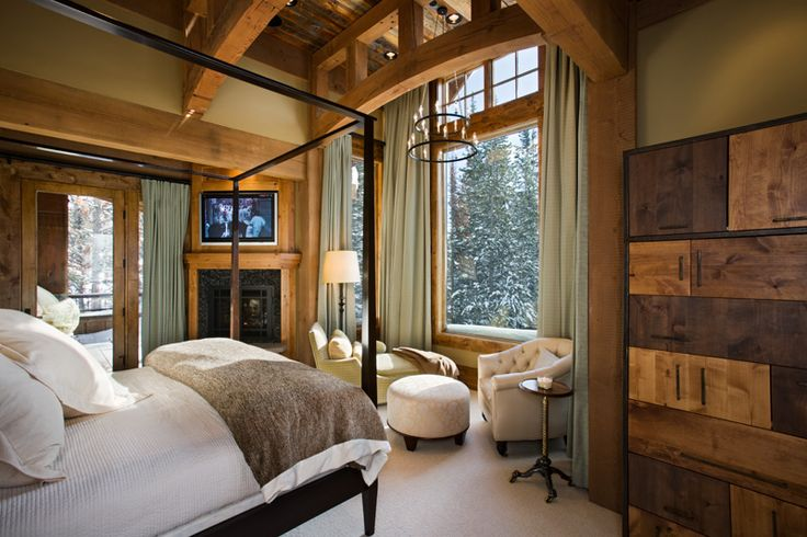 mountain house master bedroom