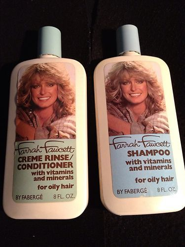 Vintage Farrah Fawcett Shampoo and Creme Rinse by Faberge