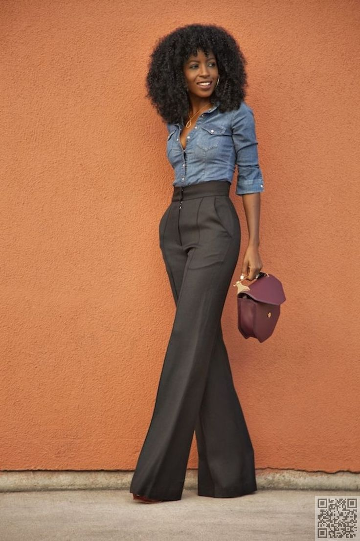 5. Work #Ready Trousers - The #Ultimate Guide to #Styling the Chambray #Shirt ... → #Fashion #Pencil