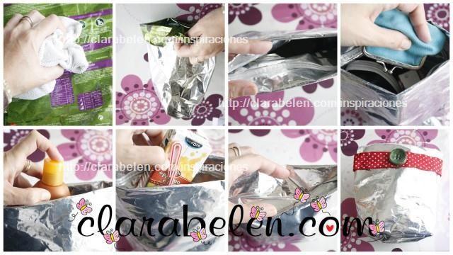 Manualidades de reciclaje_bolsa para la playa hecha con un saquito de piensos para gatos