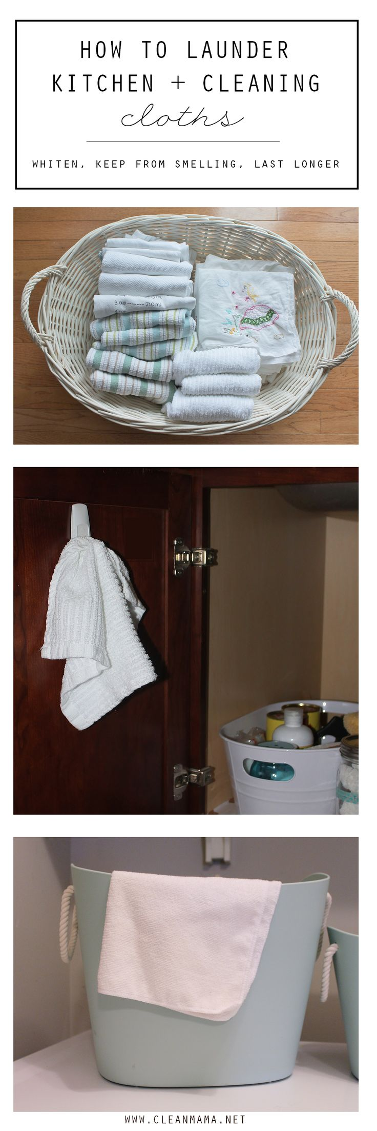 Stinky kitchen towels and cloths no more with these laundering and cleaning tips!