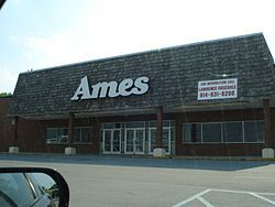 Ames, 1958 - 2002.  Acquired Big N, Kings Department Stores and Zayre along the way to ruin.