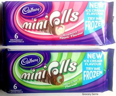 Grocery Gems: Cadbury Mini Rolls Ice Cream Flavours - Mint Choc & Raspberry Ripple