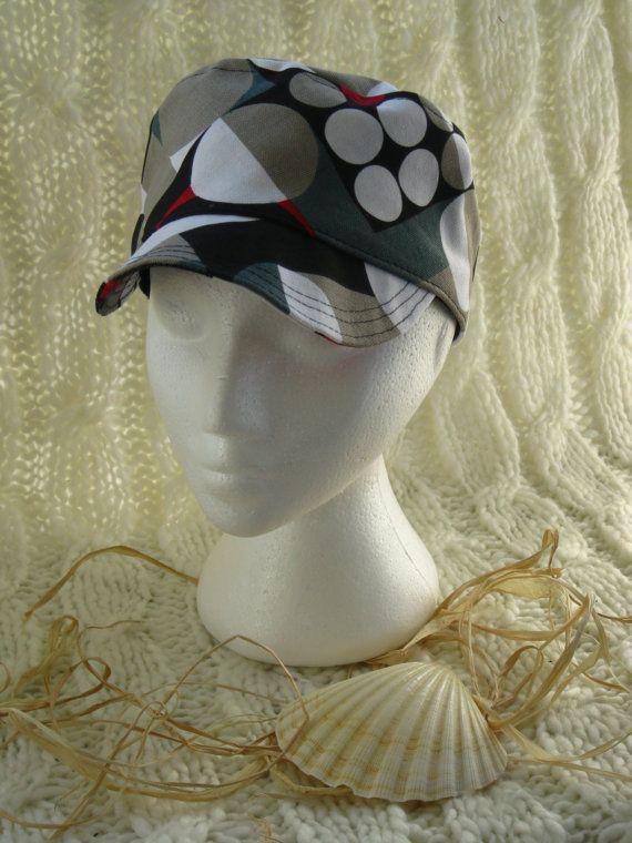 Funky Unisex Geometric print Hat by BrambleWoodANDivy on Etsy