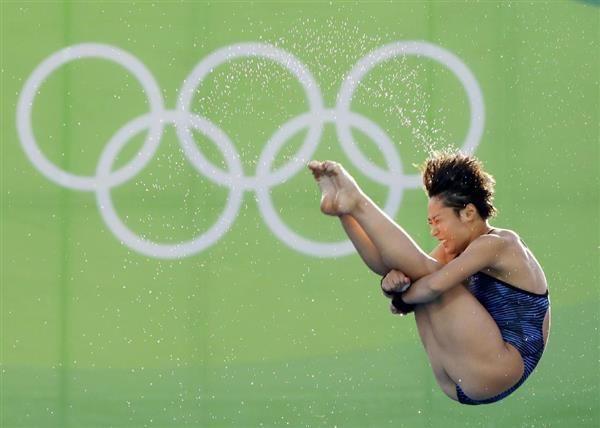 女子高飛び込み予選 板橋美波の2回目=リオデジャネイロ(共同)