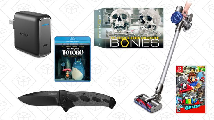 Your mid-week deals start off with a refurbished cordless Dyson V6, an Anker USB-C Charger, Studio Ghibli pre-orders, Bones box set, and more.     Today's Best Lifestyle Deals: H&M, Macy's, ASICS, Sperry, and More ASICS Jolt Sneakers, H&M's huge clearance section, Macy's...-http://trb.zone/wednesdays-top-deals-refurbished-dyson-anker-powerport-bones-box-set-kershaw-tactical-knife-and-more.html