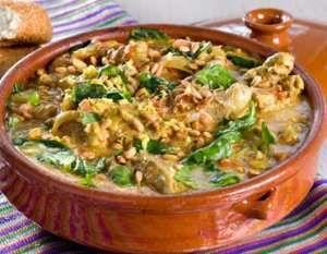 Bilde av Afghansk lammerett med spinat.