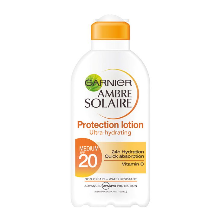 Garnier Amber Solaire Protection Lotion with Vitamin C SPF20 200ml – basic sun protection for the body