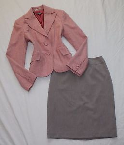 Ann Taylor Size 4 Women's Skirt Suit Beige Pink Perfect | eBay
