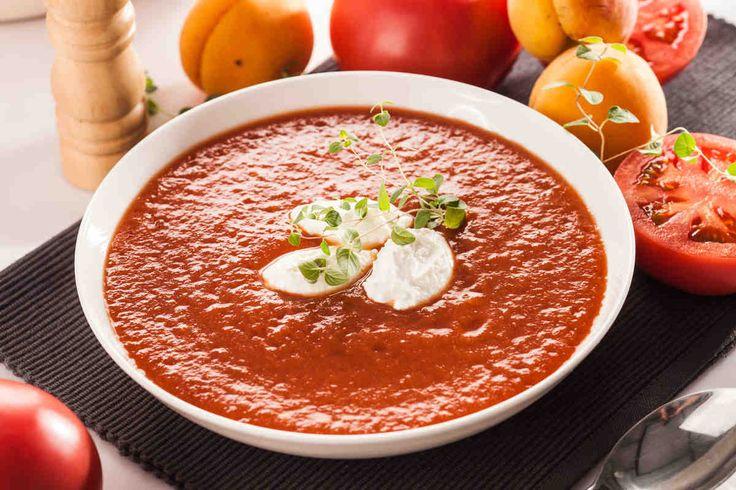 Zupa pomidorowa z morelami. #pomidory #zupa #pomidorowa #morele #obiad #smacznastrona #tesco #przepisy #przepis