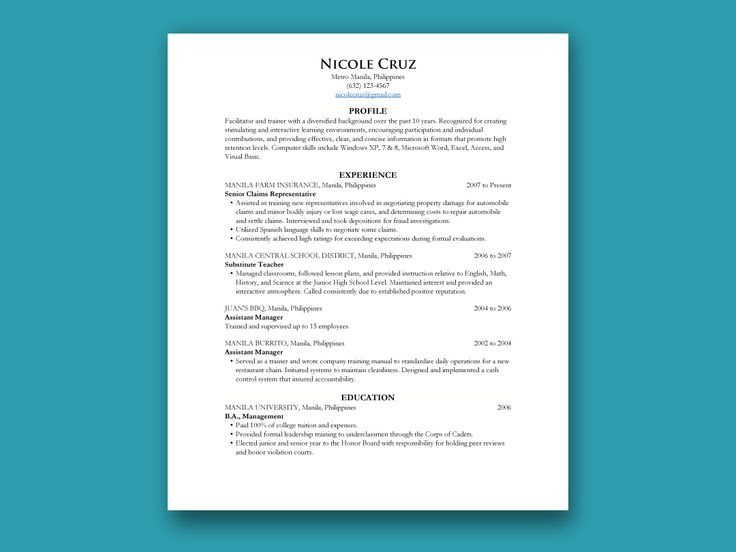 103 best Resumes \ CV images on Pinterest Resume templates, Cv - what is chronological resume
