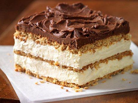 """Graham Cracker Eclair """"Cake""""...I have personally never made this cake, but I have tried this cake. I love it. Light abd just enough sweetness. I would highly recommend for a get together."""