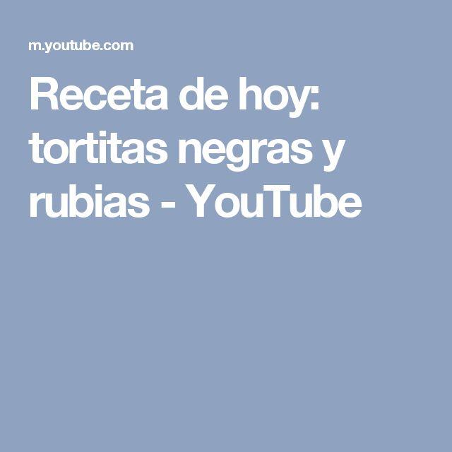 Receta de hoy: tortitas negras y rubias - YouTube