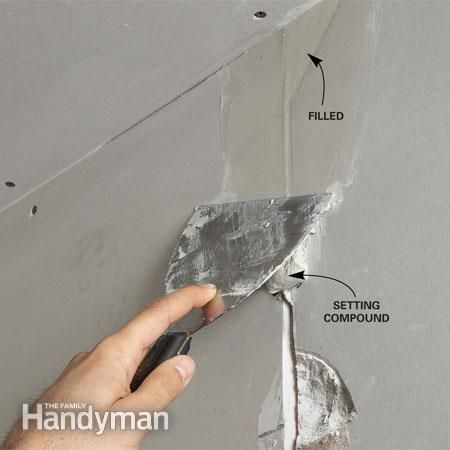 how to cut into drywall for repair