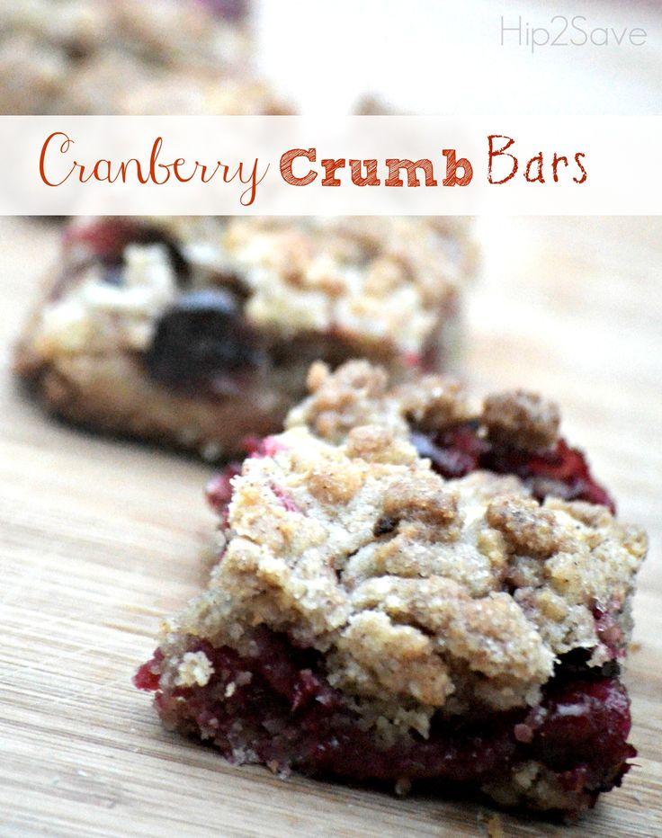 cranberry crumb bars perfect thanksgiving dessert cranberry crumb bars ...
