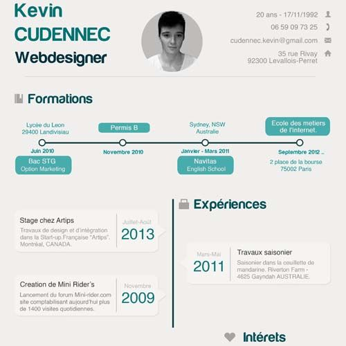 Инфографика резюме фотошоп