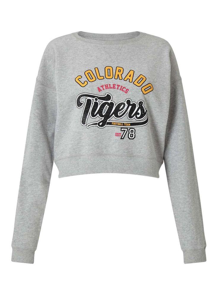 Grey Colorado Sweatshirt - Tops - Clothing - Miss Selfridge